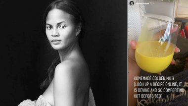 Chrissy Teigen Enjoys Homemade Golden Milk That You May Know As Haldi Doodh! Here's How You Can Make Super Healthy Turmeric Milk At Home