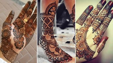 Sawan Mehendi Design Images and Tutorial Video: Celebrate Shravan and Haryali Teej with These Intricate Arabic, Bangle-Style and Indian Mehndi Patterns for Front and Back Hand