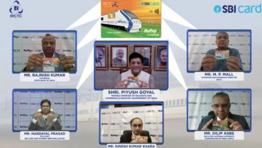 IRCTC SBI RuPay Credit Card Launched by Railway Minister Piyush Goyal, Check Benefits and Offers