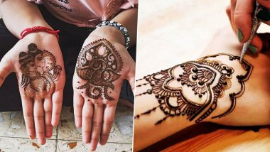 Mehndi Designs for Hariyali Teej amid Sawan 2020: Arabic, Indian and Shiv-Parvati Portrait Mehendi Designs to Celebrate Shravan Month and Teej