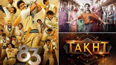 Ranveer Singh Birthday Special! From Kapil Dev Biopic 83 to Karan Johar's Magnum Opus Takht, Every Upcoming Movie of Bollywood's Most Versatile Actor