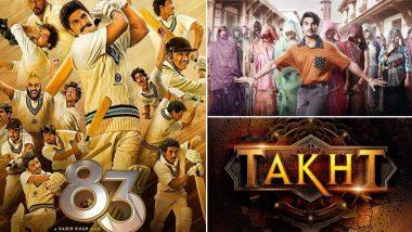 Ranveer Singh Birthday Special! From Kapil Dev Biopic 83 to Karan Johar's Magnum Opus Takht, Every Upcoming Movie of Bollywood's Most Versatile Actor