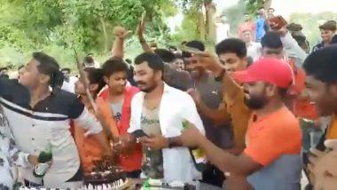 BJP Leader Celebrates Birthday With Booze in Dry State Gujarat's Mahisagar, Watch Video