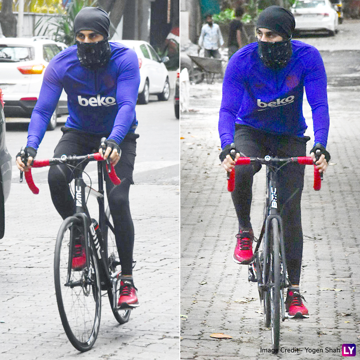 Ranbir Kapoor spotted cycling in the city