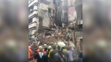 Mumbai: Portion of Bhanushali Building Collapses in Fort Area; Rescue Operation Underway