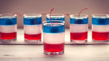 Patriotic Jello Shots Recipe for Fourth of July 2020: Ingredients and Method to Prepare the Red, White and Blue Layered Jello Shots to Celebrate America's Independence Day (Watch Video)