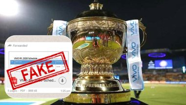Fake VIVO IPL 2020 Schedule in PDF For Download Goes Viral on WhatsApp: BCCI Yet to Announce Time Table for Upcoming Indian Premier League Season 13