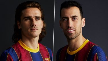 Barcelona New Home Kit for 2020–21 Unveiled, Fans Reminisce About 2010–11 Treble Winning Season (See Pics)