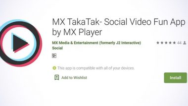 MX Player's TakaTak Is the New Short Video-Making and Sharing App like TikTok Now Available on Google Play! Here's How to Download the 'Made in India' Application