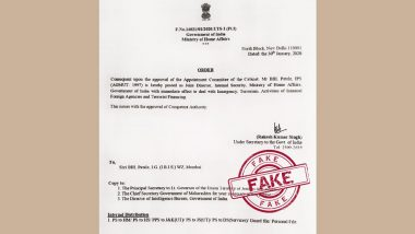 BBL Patale, IPS Appointed as Joint Director, Internal Security, MHA? Home Ministry Debunks Fake News