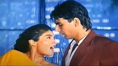 26 Years of Mohra: Here's Why The Super Hot 'Tip Tip Barsa Pani' Is Bollywood's OG Evergreen Song That Can Make You Feel The Monsoon Romance Even if You Are Single!
