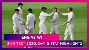 ENG vs WI Stat Highlights, 2nd Test 2020: England Beat West Indies By 113 Runs, Level Series 1-1