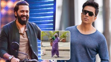 Riteish Deshmukh Shares Viral Video of Pune's Warrior Aaaji; Sonu Sood Wants to Open Martial Arts Training Centre for Her