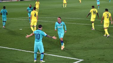 Antoine Griezmann Goal Video: Frenchman Channels Inner Lionel Messi to End Goal Drought in Barcelona's 4–1 Victory Over Villarreal