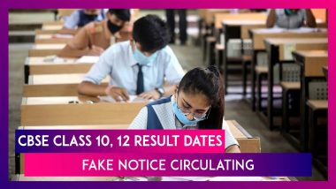 CBSE Class 10, 12 Result Dates Not Announced Yet, Fake Notice Circulating, Says Board