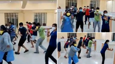Bengaluru: Video of Asymptomatic COVID-19 Patients Dancing to Kannada Song Goes Viral on Social Media (Watch Video)