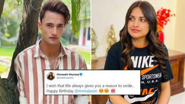 Himanshi Khurana's Birthday Wish for Boyfriend Asim Riaz is All About Life Giving Him Reasons to Smile (View Post)