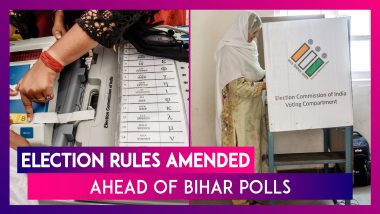 Election Rules Amended Before Bihar Polls, Voters Aged 65+ Or Hit By COVID-19 Can Use Postal Ballot