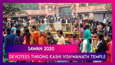 Devotees Throng Kashi Vishwanath Temple & Other Lord Shiva Temples On First Monday Of Sawan