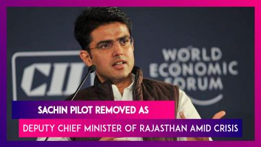 Sachin Pilot Removed As Rajasthan Deputy Chief Minister, State PCC Chief Amid Political Crisis