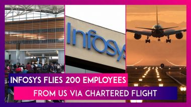 Infosys Brings Back 200 Employees, Their Families From US Via Chartered Flight