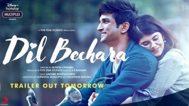 Sushant Singh Rajput's Movie Dil Bechara's Trailer To Release on 6 July, Lead Actress Sanjana Sanghi Shares Announcement Poster (View Pic)