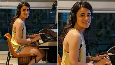 Radhika Madan Is a Carefree Chic in Denim Shorts; Actress Shares Smiling Pic Playing Synthesiser