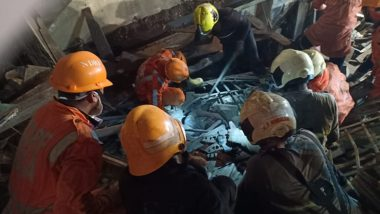 Mumbai Building Collapse: Four Killed, 13 People Rescued by NDRF, CM Uddhav Thackeray Inspects Relief Works