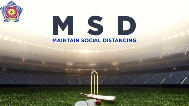 MSD: Maintain Social Distancing; Mumbai Police Comes Up With Witty Post on MS Dhoni's 39th Birthday