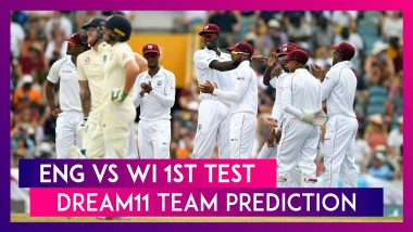 England vs West Indies Dream11 Team Prediction, 1st Test 2020: Tips To Pick Best Playing XI