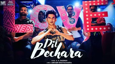 Dil Bechara Title Track: Fans Are In Love With Sushant Singh Rajput's Charming Smile And Cool Moves In The Song Crooned By AR Rahman! (View Tweets)