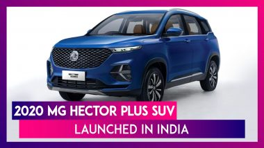 2020 MG Hector Plus SUV Launched in India; Check Prices, Features & Specifications
