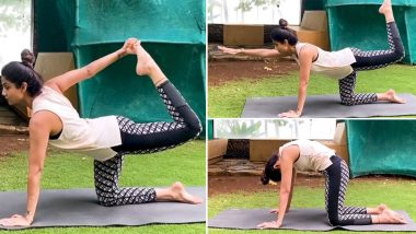 Shilpa Shetty Does Yoga and Explains the Importance of This Much-Needed Stretches and Flexes (
