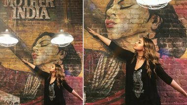 Sonakshi Sinha Poses Across 'Mother India' Inspired Wall-Art Like a Typical Bollywood Buff! (View Pic)