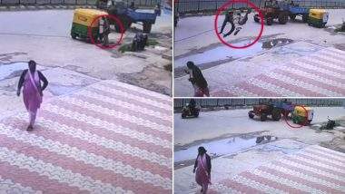 Bengaluru: Auto-Rickshaw Driver Flung Into Air by Hanging Wire, Dashes Into Woman (Watch Video)