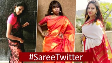#SareeTwitter Trends All Over Again: Women Are Sharing Their Glamourous Pics in Saree Showing Off Their Desi Looks