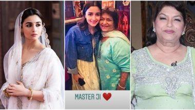 Alia Bhatt Pens a Heartfelt Note for Masterji Saroj Khan, Shares Details of Interaction on the Sets of Kalank