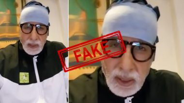 Fact Check: Old Video of Amitabh Bachchan Lauding Doctors of Nanavati Hospital Is Spread on Social Media As Legend's Latest Message on Being Diagnosed With COVID-19