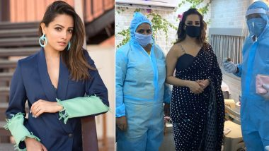 Naagin 4: Safety Comes First for Anita Hassanandani As She Shares Pictures of Herself Wearing Mask from the Sets!