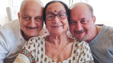 Anupam Kher's Mother, Brother, Sister-in-Law and Niece Test Positive for COVID-19, the Actor Confirms He Has Tested Negative (Read Tweet)