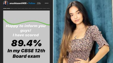 CBSE Class 12 Results 2020: Jhansi Ki Rani Fame Anushka Sen Scores 89.4% in Her Board Exams (View Post)