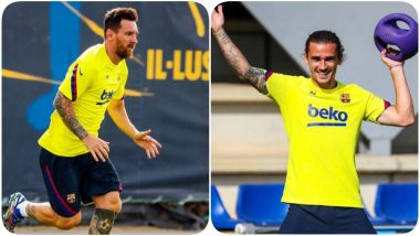 Lionel Messi, Antoine Greizmann & Others Return to Practice Ahead of Barcelona vs Napoli, Champions League 2019-20 (See Pics)