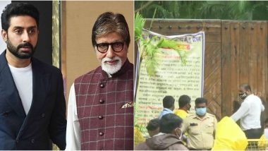 After Amitabh Bachchan and Abhishek Bachchan Test Positive for COVID-19, BMC Declares Their Juhu Bungalow Jalsa As a Containment Zone
