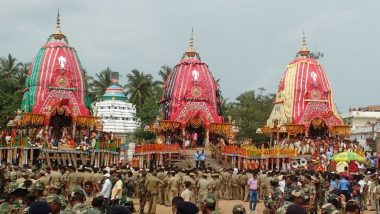 Bahuda Yatra 2020 Images, Free Live Streaming and Telecast From Puri: Watch Video of The Lord's Homecoming, a Key Event During Puri Jagannath Rath Yatra