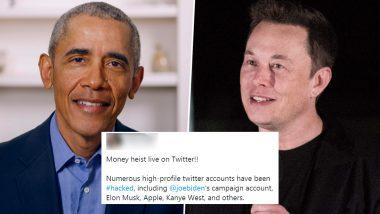 Bill Gates, Barack Obama, Elon Musk, Kim Kardashian West & Other High-Profile Twitter Accounts Hacked in Cryptocurrency Scam, Twitterati Term it 'Money Heist'