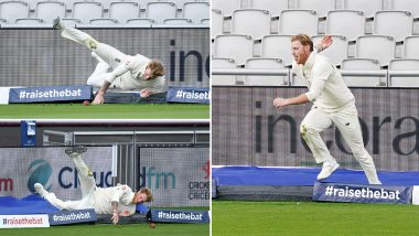 Ben Stokes Sprints off His Own Bowling to Save Boundary, Fans Laud England All-Rounder for His Commitment (Watch Video)