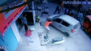 Delhi Woman Run Over by Drunk Man at Chilla Village, Shocking Video Captured on CCTV; Police Issue Clarification
