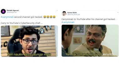 CarryMinati's Second YouTube Channel 'CarryisLive' Gets Hacked for Bitcoins, Netizens React With Funny Memes and Jokes!