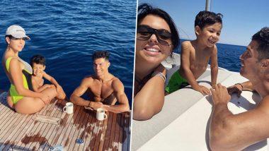 Cristiano Ronaldo, Partner Georgina Rodriguez Relax on a Luxury Yacht During Vacation in Portofino (View Family Pics)