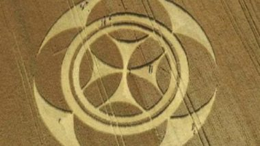 Bizarre 'Templar Crop' Circle Appears in French Field, Know More About Crop Formation Mystery, Alien Theories And Other Times It Was Spotted in Different Countries (Pictures & Videos)